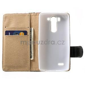 Elegantné lilie peňaženkové puzdro na LG G3 s - tyrkysové - 2