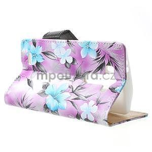 Elegantné lilie peňaženkové puzdro pre LG G3 s - fialové - 2