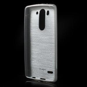 Broušený gélový obal na LG G3 s - šedý - 2