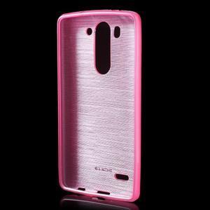 Broušený gélový obal na LG G3 s - rose - 2
