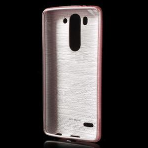Broušený gélový obal na LG G3 s - růžový - 2