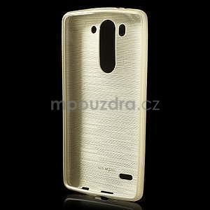 Broušený gélový obal na LG G3 s - zlatý - 2