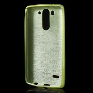 Broušený gélový obal na LG G3 s - zelený - 2