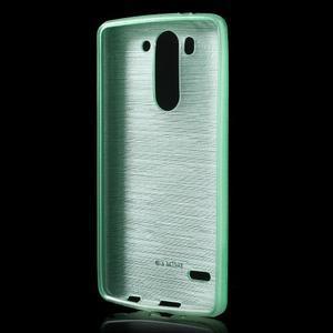 Brúsený gélový obal pre LG G3 s - azurový - 2