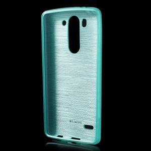 Broušený gélový obal na LG G3 s - tyrkysový - 2