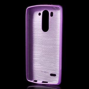 Brúsený gélový obal pre LG G3 s - fialový - 2