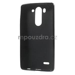 Čierny matný gélový kryt LG G3 s - 2