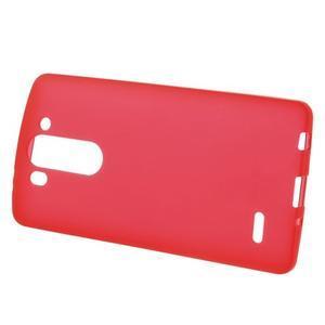 Červený matný gélový kryt LG G3 s - 2