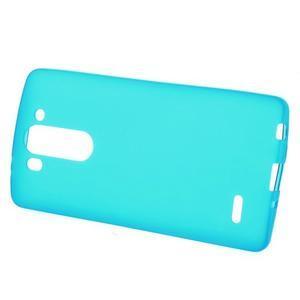Světle modrý matný gélový kryt LG G3 s - 2