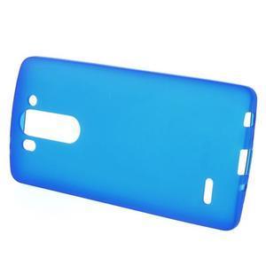 Modrý matný gélový kryt LG G3 s - 2