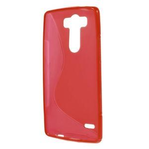 S-line červený gélový obal pre LG G3 s - 2