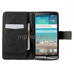 Zapínací peňaženkové puzdro pre LG G3 s - květina mandala - 2