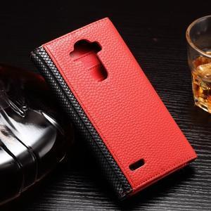 Enlop peněženkové pouzdro na LG G4 - červené/černé - 2