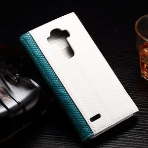 Enlop peňaženkové puzdro pre LG G4 - modré/biele - 2