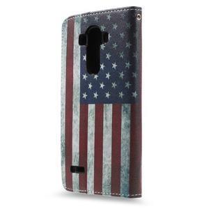 Call peňaženkové puzdro pre LG G4 - US vlajka - 2