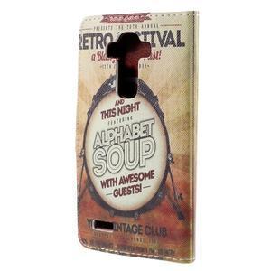 Koženkové pouzdro na mobil LG G4 - retro festival - 2