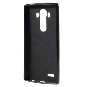 Lesklý gélový obal pre LG G4 - čierny - 2