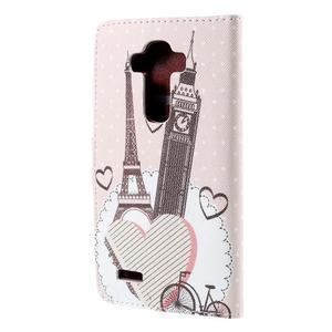 Koženkové puzdro pre mobil LG G4 - Eiffelka a Big Ben - 2