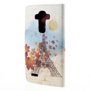 Koženkové pouzdro na mobil LG G4 - Eiffelova věž - 2