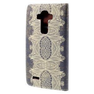 Koženkové puzdro pre mobil LG G4 - Henna - 2