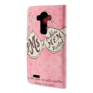 Koženkové puzdro pre mobil LG G4 - podprsenka - 2