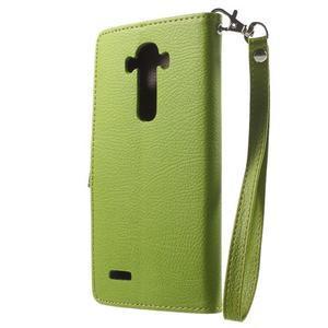 Leaf peněženkové pouzdro na mobil LG G4 - zelené - 2