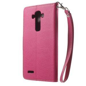 Leaf peňaženkové puzdro pre mobil LG G4 - rose - 2