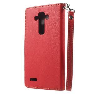 Leaf peněženkové pouzdro na mobil LG G4 - červené - 2