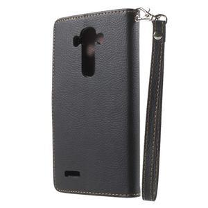 Leaf peněženkové pouzdro na mobil LG G4 - černé - 2