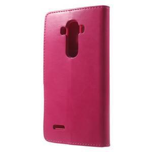 Luxury PU kožené puzdro pre mobil LG G4 - rose - 2