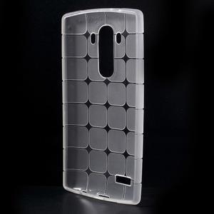 Square gélový obal pre LG G4 - biely - 2
