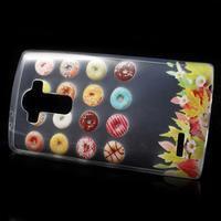 Softy gélový obal pre mobil LG G4 - donuts - 2/5