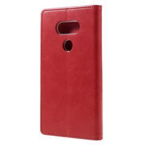 Luxury PU kožené puzdro pre mobil LG G5 - červené - 2