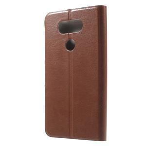 Horse PU kožené peňaženkové puzdro pre LG G5 - hnedé - 2
