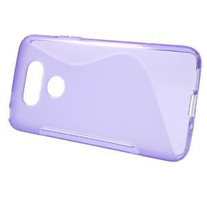 S-line gélový obal pre mobil LG G5 - fialový - 2