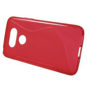 S-line gélový obal pre mobil LG G5 - červený - 2