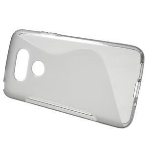 S-line gélový obal pre mobil LG G5 - sivý - 2