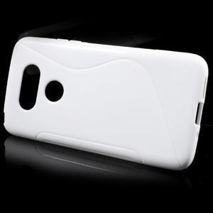 S-line gélový obal pre mobil LG G5 - biely - 2
