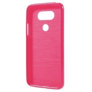 Lesklý gélový obal pre mobil LG G5 - rose - 2