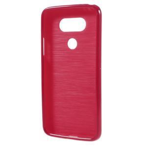 Lesklý gélový obal pre mobil LG G5 - červený - 2