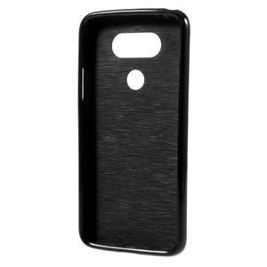 Lesklý gélový obal pre mobil LG G5 - čierny - 2