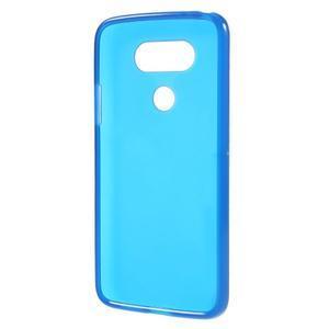 Matný gelový kryt na mobil LG G5 - modrý - 2
