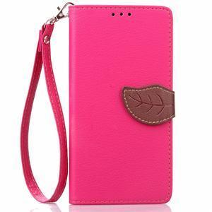 Leaf PU kožené puzdro pre LG G5 - rose - 2