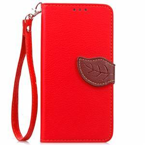 Leaf PU kožené pouzdro na LG G5 - červené - 2