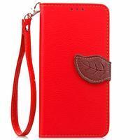 Leaf PU kožené pouzdro na LG G5 - červené - 2/7