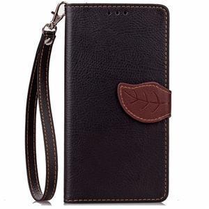 Leaf PU kožené puzdro pre LG G5 - čierne - 2