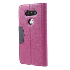 Klopové peneženko puzdro pre LG G5 - rose - 2