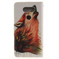 Obrázkové koženkové puzdro pre LG G5 - vlk - 2/7