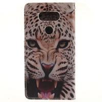 Obrázkové koženkové pouzdro na LG G5 - leopard - 2/7