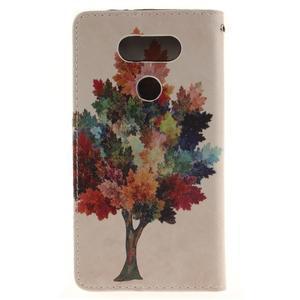 Obrázkové koženkové puzdro pre LG G5 - farebný strom - 2